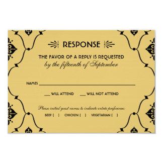 Wedding RSVP Card | Art Deco Style Invites