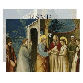 Wedding RSVP Card Catholic Christian