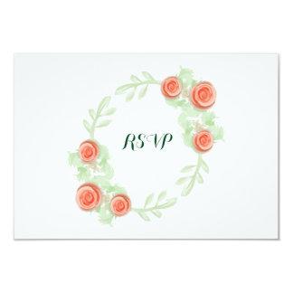 Wedding RSVP Card - Floral Rose Border - Bridal