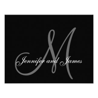 Wedding RSVP Card with Monogram and Names Personalized Invite