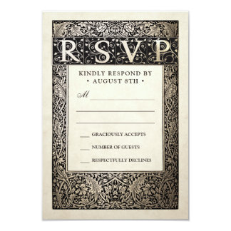 Wedding RSVP Cards | Champagne Ivy Collection