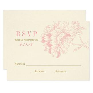 Wedding RSVP Cards | Pink Floral Peony