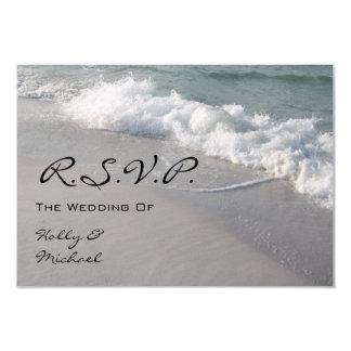 Wedding RSVP - Ocean Waves & Sand Card