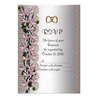 Wedding RSVP response card Lilies Personalized Invites