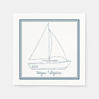 Wedding Sailboat Paper Napkin