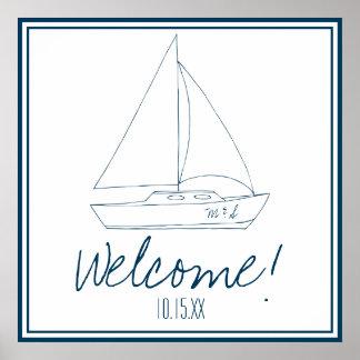 Wedding Sailboat Poster