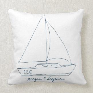 Wedding Sailboat Throw Pillow