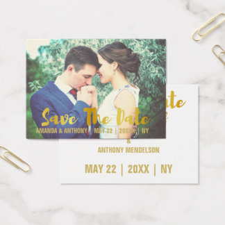 Wedding save the date business card