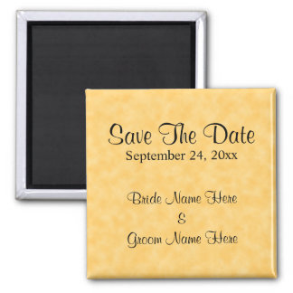 Wedding Save The Date in Yellow and Black Refrigerator Magnets