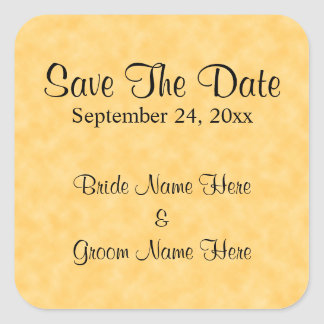 Wedding Save The Date in Yellow and Black Stickers