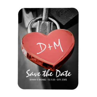 Wedding Save The Date Love Lock Fridge Magnet