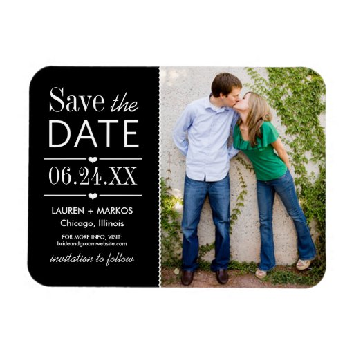 Wedding Save the Date Magnet | Modern Photo