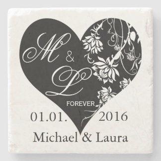 Wedding Save the Date Personalized stone coasters