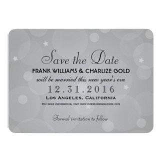 "Wedding Save the Date | Platinum Gray 4.5"" X 6.25"" Invitation Card"