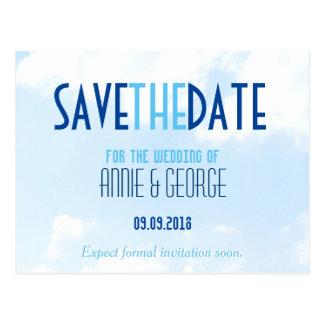 Wedding Save the Date Postcard Winter Wonderland