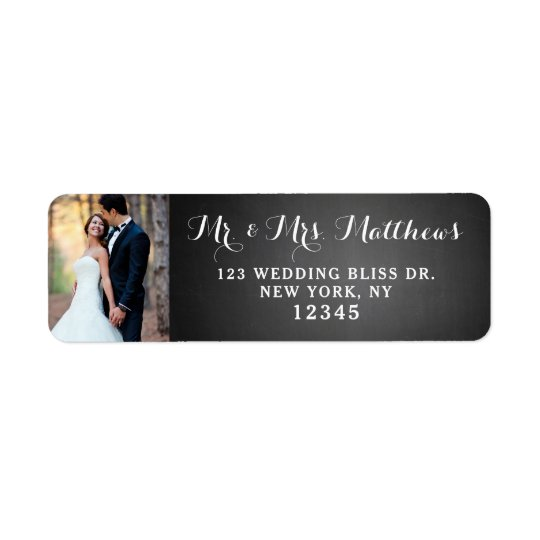 Wedding Script Black Chalkboard Photo
