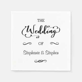Wedding Script - Paper Napkin
