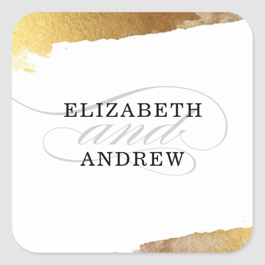 WEDDING SEAL modern luxe gold gilded edges