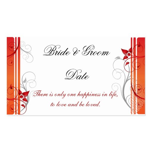Wedding Seating Assignment Card template Business Cards