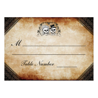 Wedding Seating - Brown Gothic Halloween Skeletons Pack Of Chubby Business Cards