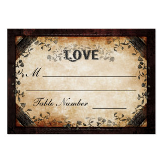 Wedding Seating Card - Brown Gothic Halloween LOVE Pack Of Chubby Business Cards
