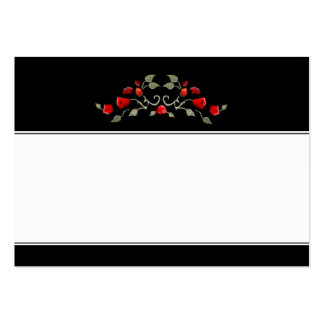 Wedding Seating Cards BLANK Black & Red Roses Large Business Card