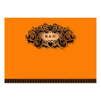 Wedding Seating Cards BLANK Halloween Orange Black Large Business Card
