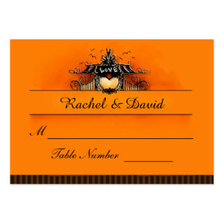 Wedding Seating Cards - Halloween Love Large Business Card