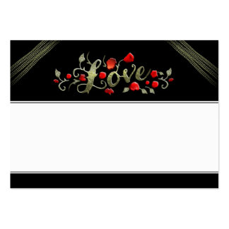 Wedding Seating Cards LOVE Red Roses BLANK Large Business Card
