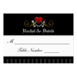 Wedding Seating Cards - Skeletons with Heart Large Business Card