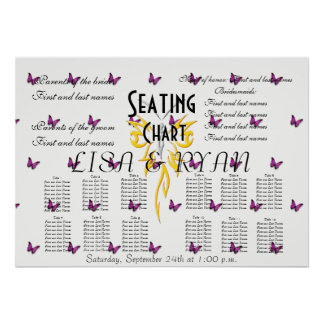 Wedding Seating Chart Butterfly Destiny'S Destiny