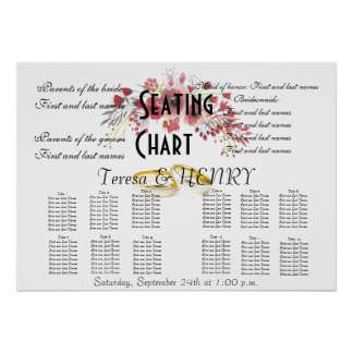 Wedding Seating Chart Floral Destiny'S Destiny