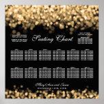 Wedding Seating Chart Gold Lights