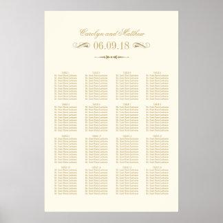 Wedding Seating Chart Poster | Antique Flourish