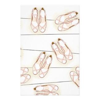 Wedding shoes pattern stationery design