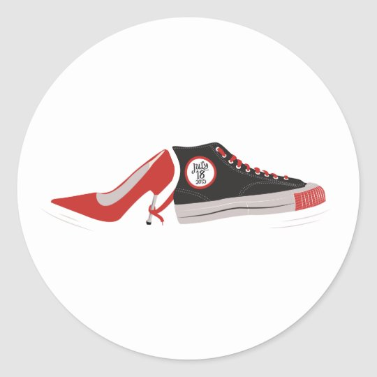 Wedding Shoes Sticker