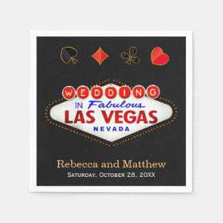 Wedding Shower Las Vegas Wedding Party Disposable Napkins