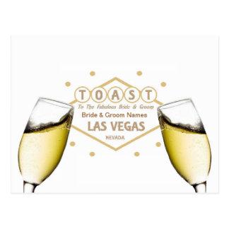 """Wedding Shower """"Toast the Bride & Groom"""" Las Vegas Postcard"""