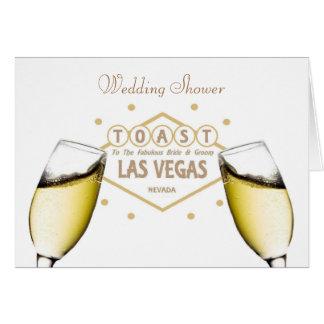 "Wedding Shower ""TOAST"" to Bride & Groom Las Vegas  Card"
