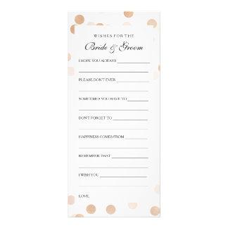 Wedding Shower Wishes Copper Foil Glitter Light Full Colour Rack Card