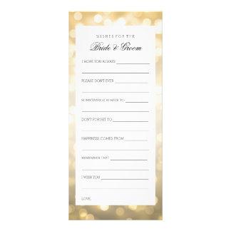 Wedding Shower Wishes Gold Glitter Lights Custom Rack Card