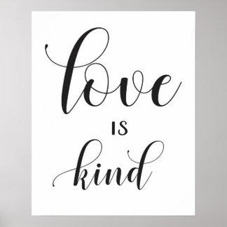 Wedding Sign - 1 Corinthians 13 - Love is Kind