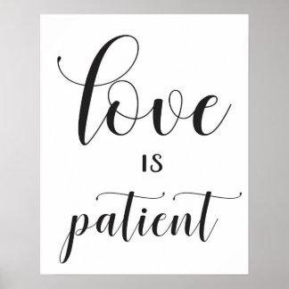 Wedding Sign - 1 Corinthians 13 - Love is Patient