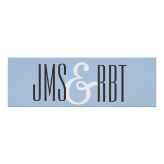 Wedding Sign banner with initials
