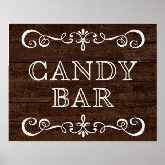 Wedding Sign – Candy Bar Rustic Wedding Sign