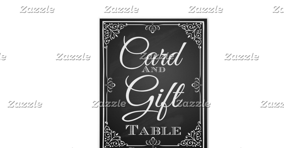 Wedding Gift Table Sign : Wedding sign card and gift table poster Zazzle