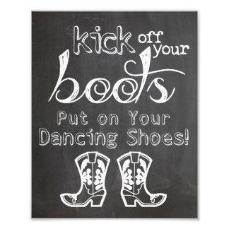 Wedding sign Chalkboard style funny boots sign
