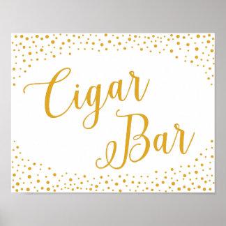 Wedding Sign – Cigar Bar Confetti Wedding Sign