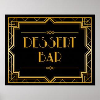 Wedding Sign – Dessert Bar Gatsby Wedding Sign
