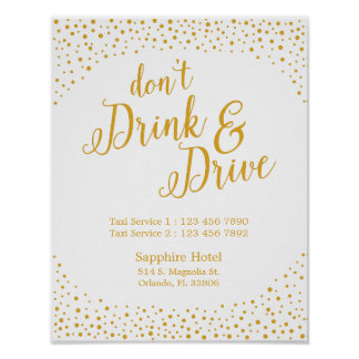 Wedding Sign – Don't Drink & Drive Confetti Sign